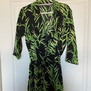 Missguided Palm tree romper w/belt